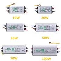 Jiguoor 10W 20W 30W 50W 100W étanche haute LED d'alimentation pilote AC85 265V entrée transformateur de contrôle électronique à LEDs led driver transformer electronic led driver led driver ac85-265v -
