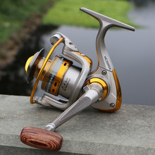 Spinning Fishing Reel 11BBs 5.2 : 1 Aluminium Foldable Fishing Reel Gray Exchangable Handle Side Fishing Reel