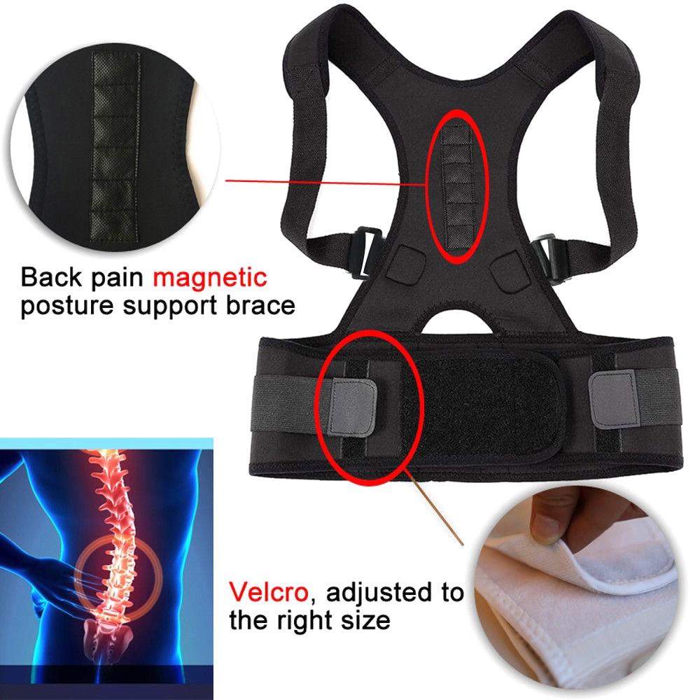 Male Female Adjustable Magnetic Posture Corrector Corset Back Brace Back Belt Lumbar Support Straight Corrector S-XXL TK-ing 3