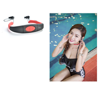 Sport Music 8GB Memory Underwater MP3 Player Radio FM Head Wearing MP 3 Players Diving Swim Surfing Sports Super IPX8 Waterproof