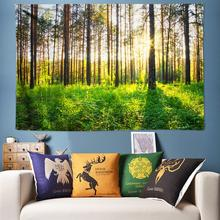 Sunshine Forest Tapestry Wall Hanging 3D Boho Decor Psychedelic Art Cloth Chakra Yoga Mat