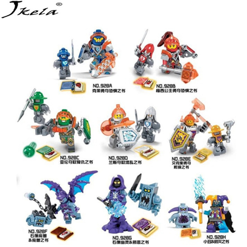 [Jkela] 8pcs/lot NEW Nexo Knights Future Shield Building Blocks Castle Warrior Nexus Kids Toys Gift Compatible With Legoingly lele knights future castle warrior model