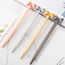 Fashion Girl Ballpoint Pens For School Office 1 mm Black Ink Cute Bow Design Ball Pen Joy Corner