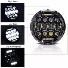 7inch 75w LED Headlight For Jeep Wrangler JK 4x4 12v-24v Running Light With H4/H13 Hi-LO Beam LADA NIVA