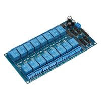 16 Channel 5V Relay Shield Module With Optocoupler For Arduino 180X90X20MM Electronic Integrated Circuits Board
