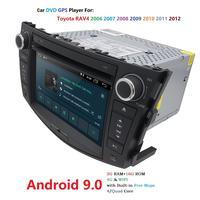 Quad Core 1024*600 HD Screen 2 Din Android 9.0 Car DVD for Toyota Rav 4 RAV4 Audio Video Stereo GPS Navigation Radio RDS 4G Wifi