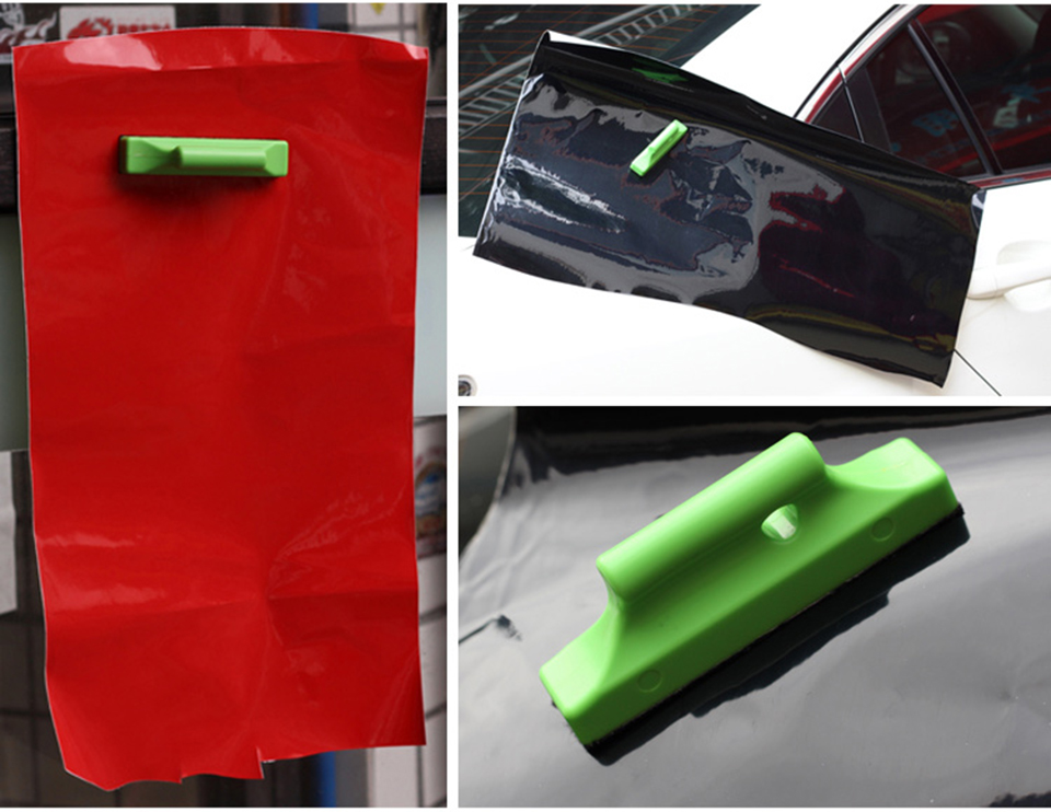 Image 3 - Green Auto Vinyl Wrap Strip Stud Magnet Holder felt squeegee magnetic holder Graphics Positioining Sign Making Vinyl Tool MO 211-in Car Stickers from Automobiles & Motorcycles
