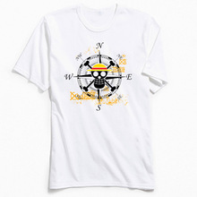 100% Cotton Tshirt Men Luffy Skull Tees Adult NEW WORLD T-shirts One Piece Pirate Tops T Shirt Designer Unique O Neck Sweater цена и фото
