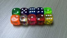 Exquisite 18mm transparent dice 18 transparent dice christmas gift dice