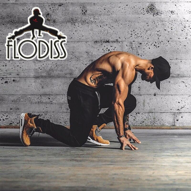FLODISS Brand font b Running b font Pants 2018 Men Solid Cotton font b Sport b