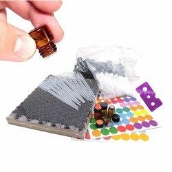 1/4 unids unidades 144 dram 1 mL botellas de aceite esencial pequeños viales de muestra de vidrio ámbar con tapas reductoras de orificios, etiquetas doTERRA incluidas