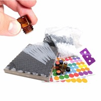 144pcs Empty 1 4 Dram 1ml Small Amber Glass Essential Oil Bottles Sample Vials With Orifice