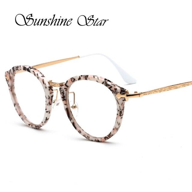 0118ae5288b Pop Age New Luxury Women Brand Clear Lens Round Glasses Metal Frame Vintage  Men Eyeglasses Myopia