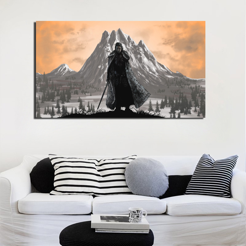Game Of Thrones Artwork Wall Art Canvas Posters And Prints Canvas Painting Decorative Pictures For Office Living Room Home Decor in Painting Calligraphy from Home Garden