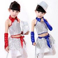 어린이 싼 현대 댄스 의상 반짝 스팽