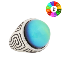 Mojo Vintage Bohemia Retro Color Change Mood Ring Emotion Feeling Changeable Ring Temperature Control Ring for Women MJ-RS044