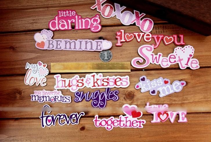 2632 1 box cardboard diy scrapbooking chipboard letter stickers paper crafts album gifts decoration
