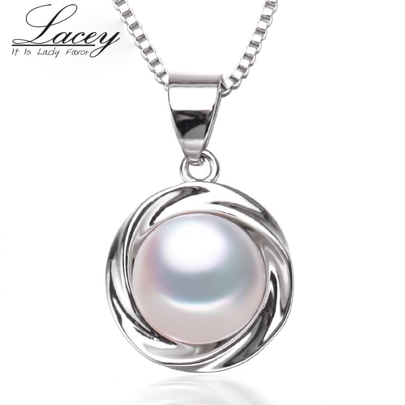 Jauns modes saldūdens pērļu kulons kaklarota sievietēm, īsta dabiskā pērle kulons 925 sudraba meitene dzimšanas dienas dāvanas balta rozā p12