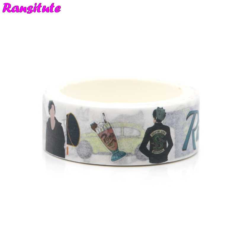 Ransitute R364  Washi Tape Riverdale Japanese Removable Sticker Office School Supplies Handbook Decoration Student Book Decal