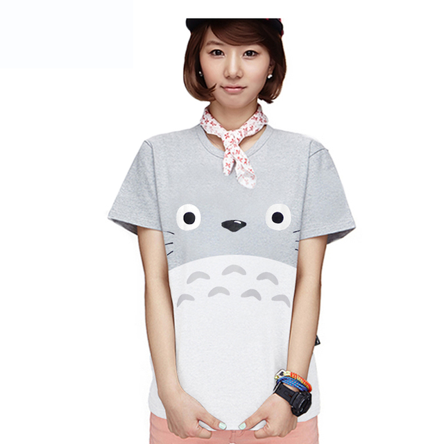 Totoro Female 2017 Summer Short Sleeve Cotton T shirt