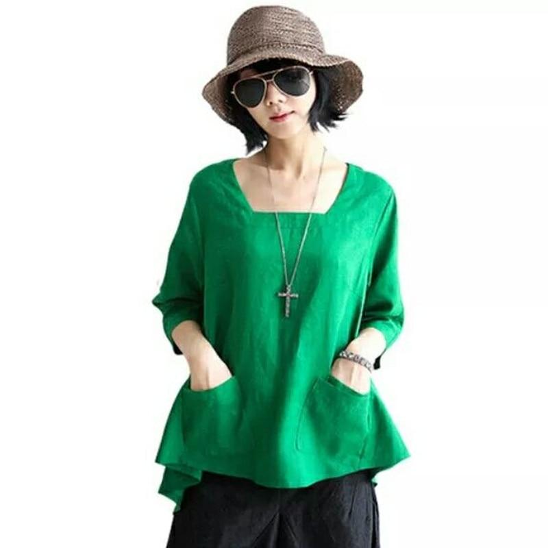 2016 nové dámské tílko a halenky s výstřihem do poloviny rukávů camisas mujer dámské letní tílko plus velikost plné halenky ropa mujer dámské