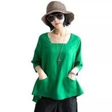 Купить с кэшбэком 2016 new ladies tops and blouses o-neck half sleeve camisas mujer female summer tops plus size ize blouses ropa mujer women