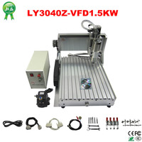 3d cnc router 3040Z VFD1500W spindle 3axis or 4axis small cnc milling machine