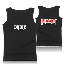 New Arrival Justin Bierber Purpose Tour Plus Size Muscle Tank Tops for Men Summer Vests and Fear of God Sleeveless Shirts