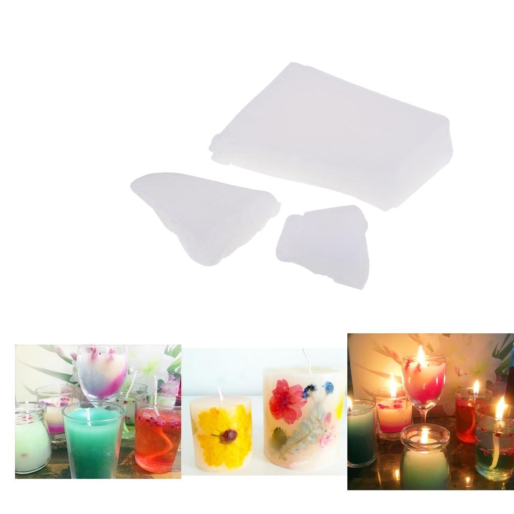 500g White Paraffin Wax Blocks for Handmade DIY Candle Making Craft Supplies