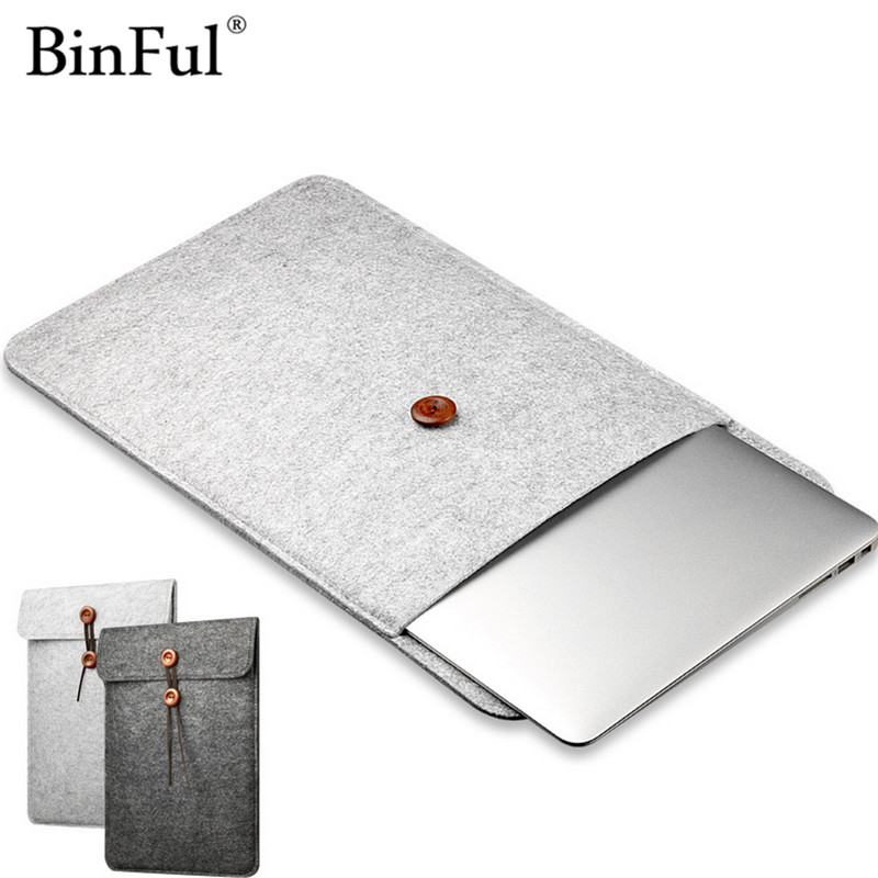 BinFul Fashion Laptop Cover Case For Macbook Pro/Air/Retina Notebook Sleeve bag 11121315 Wool Felt Sleeve Pouch Bag
