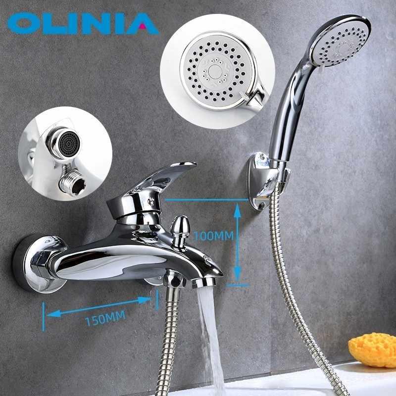 Olinia sistema de chuveiro misturador do banho de chuveiro misturador do chuveiro Conjunto de Chuveiro Do Banheiro Banho de Chuva Chuveiro de Água Quente E Fria Da Torneira OL8092