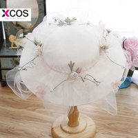 Summer Wedding Hats And Fascinators For Women Elegant Bridal Hats For Beach Bohemian Wedding Bride High Quality