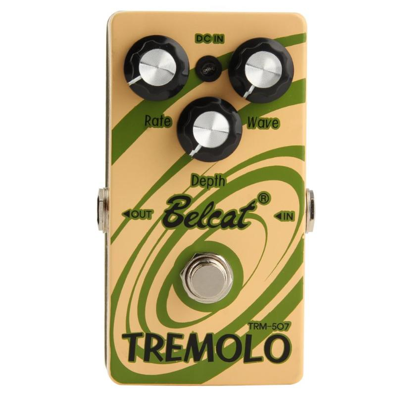 TRM-507 Tremolo Guitar Effect Pedal True Bypass Guitar Parts Accessories Green 1set metal gold tremolo system guitar parts
