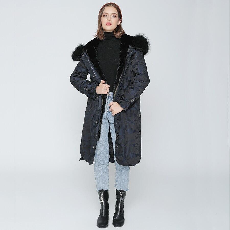 OFTBUY 2019 ขนสัตว์จริง X   ลวงตายาว Parka ฤดูหนาวแจ็คเก็ตผู้หญิงธรรมชาติ Raccoon ขนสัตว์ Hood จริง mink Fur Liner-ใน ขนสัตว์จริง จาก เสื้อผ้าสตรี บน   3