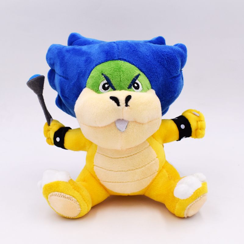 """2018 New Super Mario Bowser Bros 2Styles Ludwig Von Koopa With Blue Turtle Shell Stuffed Plush Toy With Tag 8""""20cm Free Shipping 2"""