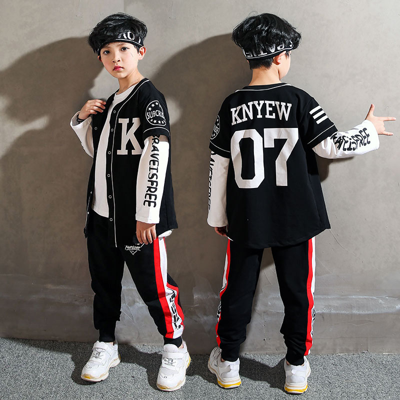 2019 Del Nuovo Hip Hop Costumi Di Danza Bambini Danza Di Strada Abbigliamento Ragazzi Vestito Fase Contemporanea Di Jazz Di Ballo Di Usura Bambini Dnv11122 Corrispondenza A Colori