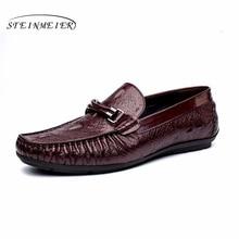 Mens casual shoes leather men dress oxford shoes for men dressing wedding business office shoes slip-on male zapatos de hombre