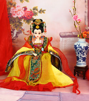 35CM Gorgeous Chinese BJD Dolls Collectible Tang Dynasty Queen Dolls With 12 Joints Movable Christmas Gifts For Girl