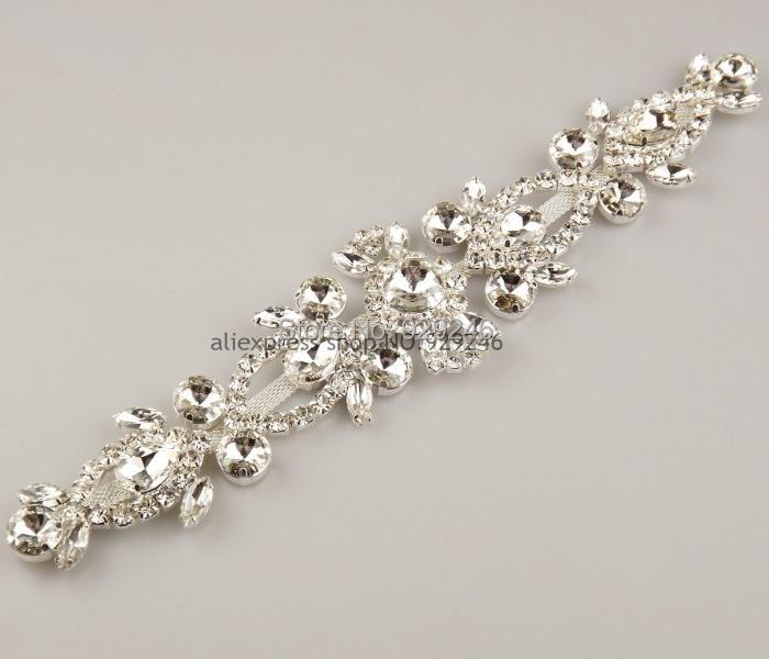 ₪Envío libre 1 unid 6*25.5 cm largo flor adornos cristal claro ...