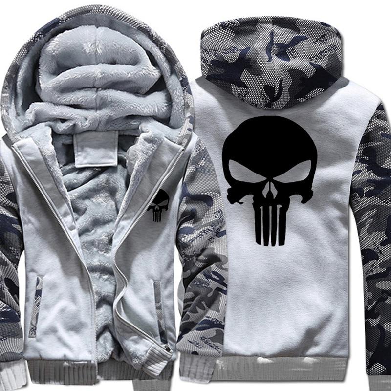 USA SIZE New The Punisher Hoodies Warm Male Coat Jackets The Punisher Hoodies HTB1B3xsgBUSMeJjy1zkq6yWmpXaf