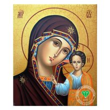 New 5D Diy Diamond Painting Religion our lady of Kazan Icon Diamond Mosaic Handicraft Needlework Crafts Embroidery Cross Stitch(China)