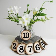 1-10 цифр деревянные часы на цепочке карты место держатель стол номер карты цифровой Декор сиденья свадебные принадлежности
