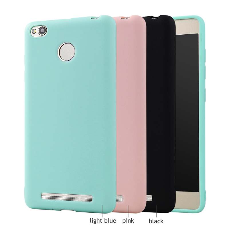 Silicone Case For Xiaomi Redmi 3 S 3S Pro Prime Cover Funny Cute Candy Color Thin Soft TPU Rubber Back Cover