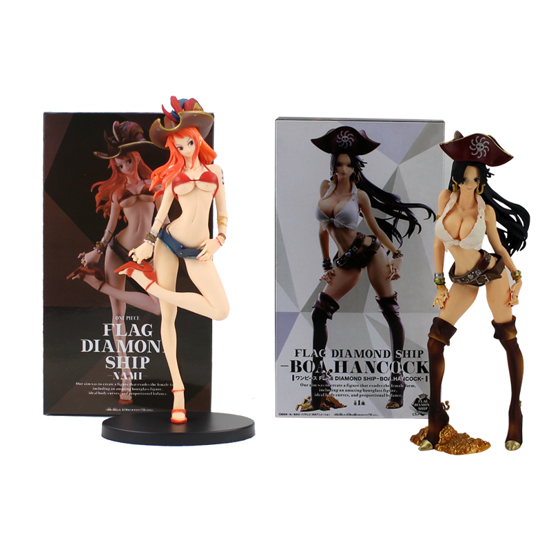 Anime One Piece Figure Toys Boa Hancock Nami Figure Toy Flag Diamond Ship Hancock Pirate Girl Beauty Model Figurine Toys & Hobbies