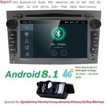 Hizpo автомобильный мультимедийный плеер gps Android 8,1 2Din для Vauxhall/Opel/Antara/VECTRA/ZAFIRA/Astra H G J Canbus DVD радио DAB +
