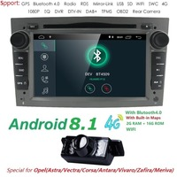 Hizpo Car Multimedia player GPS Android 8.1 2Din For Vauxhall/Opel/Antara/VECTRA/ZAFIRA/Astra H G J Canbus DVD Player Radio DAB+