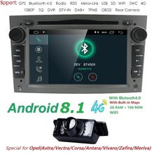 Hizpo Car Multimedia player GPS Android 8.1 2Din Per Vauxhall/Opel/Antara/VECTRA/ZAFIRA/Astra H G J Canbus Lettore DVD Radio DAB +