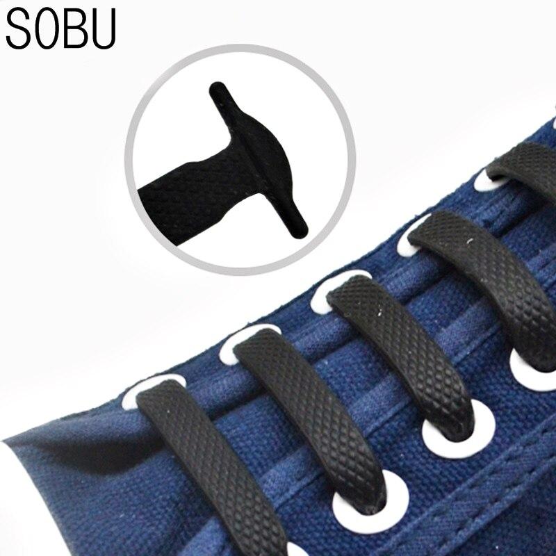 2019 New 2 Style 16pcs/lot&12pcs New Creative Shoelaces Elastic Silicone Shoelaces For Shoes Creative Shoelace No Tie Shoe Laces