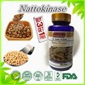 (Compre 3 y Obtenga 1 Gratis) atención cardiovascular de natto nattokinase 100 softgel cápsula trombolítico longevidad extracto