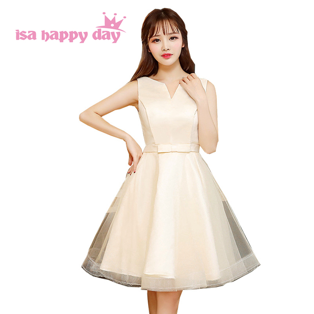 27702d00db129 girls champagne beautiful short 8th grade sweet 16 grad college graduation  party dresses special occasion dress for teens H4217